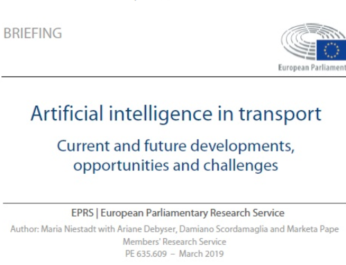 Artificial intelligence in transport current and future developments, opportunities and challenges